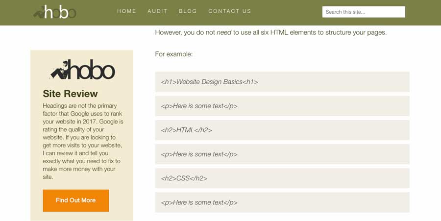 learn about html headers