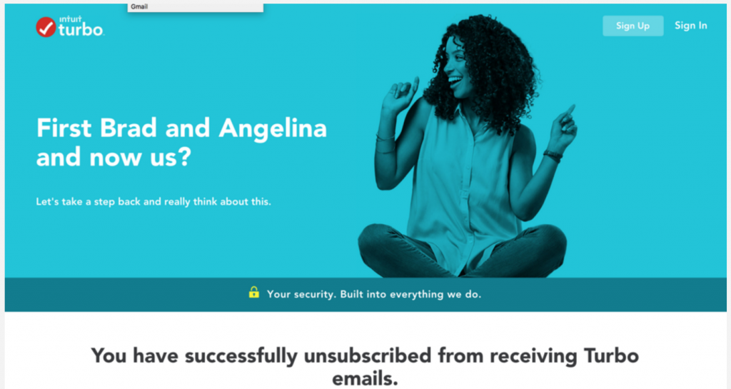 turbo tax email unsubscribe