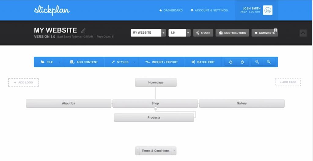 Slickplan Sitemap Builder