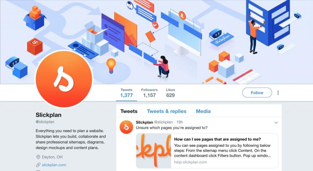 Slickplan Twitter
