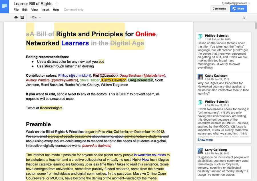 Google Docs Collaboration