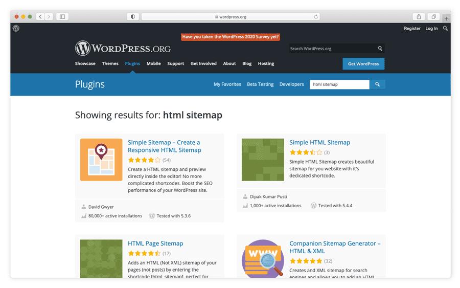Wordpress HTML sitemap plugins