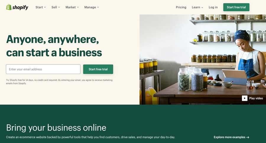 shopify-homepage