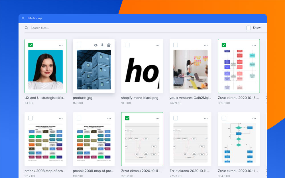 Design Mockups file library